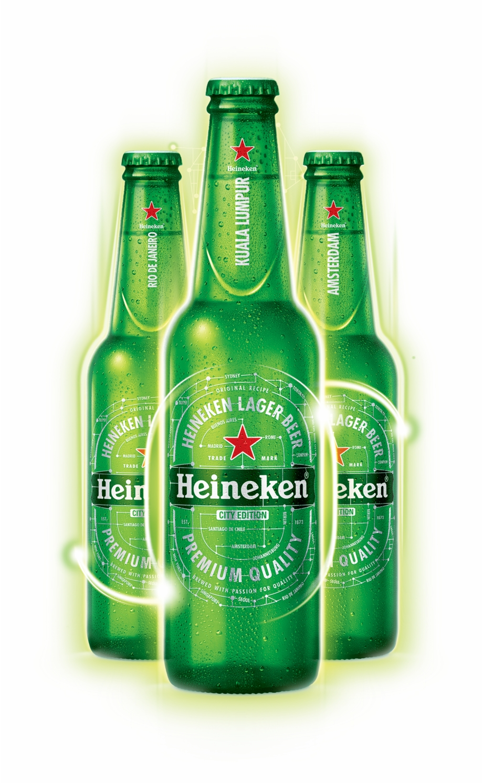 Heineken Bottles.