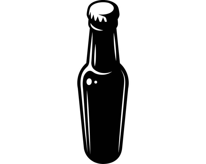 Beer Bottle Cerveza Delicious Recreational Drink Alcohol Cold .SVG .EPS  .PNG Vector Space Clipart Digital Download Circuit Cut Cutting.