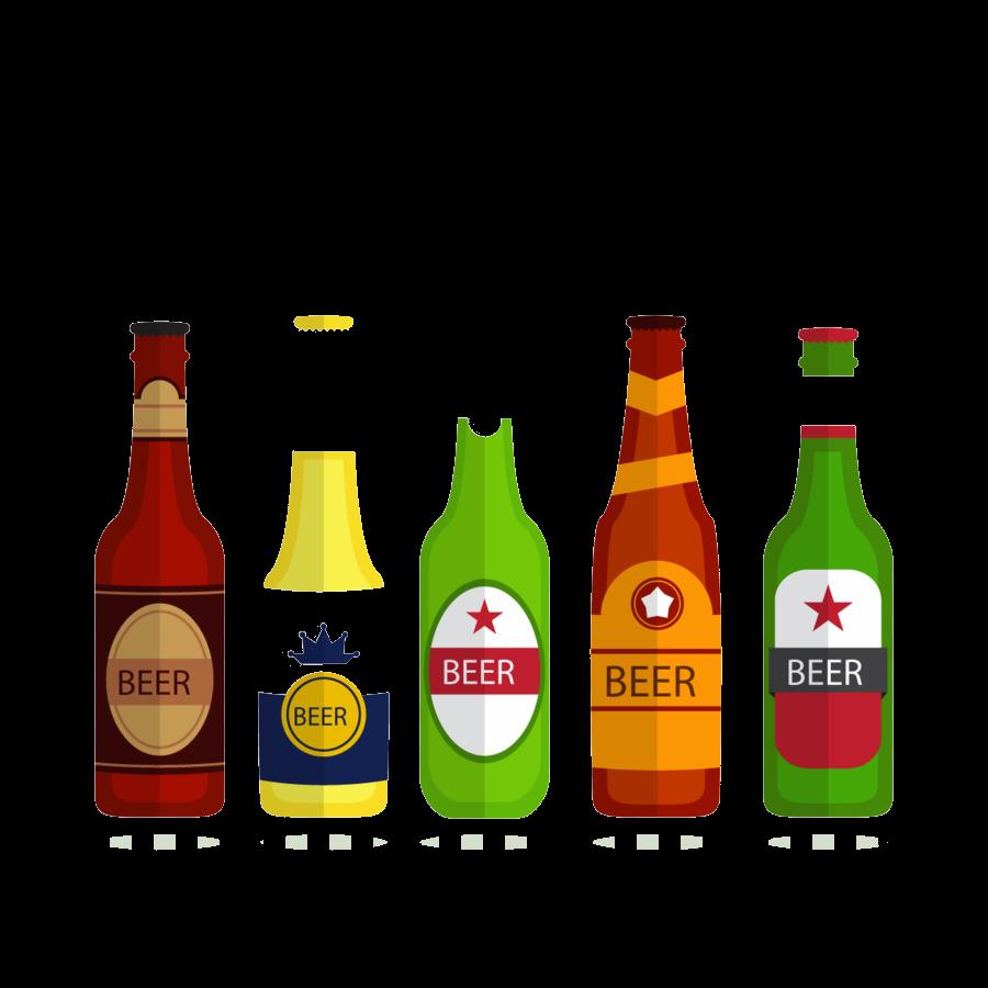 Alcohol Excelent Beer Bottle Heineken Alcoholic Beverage Vector.