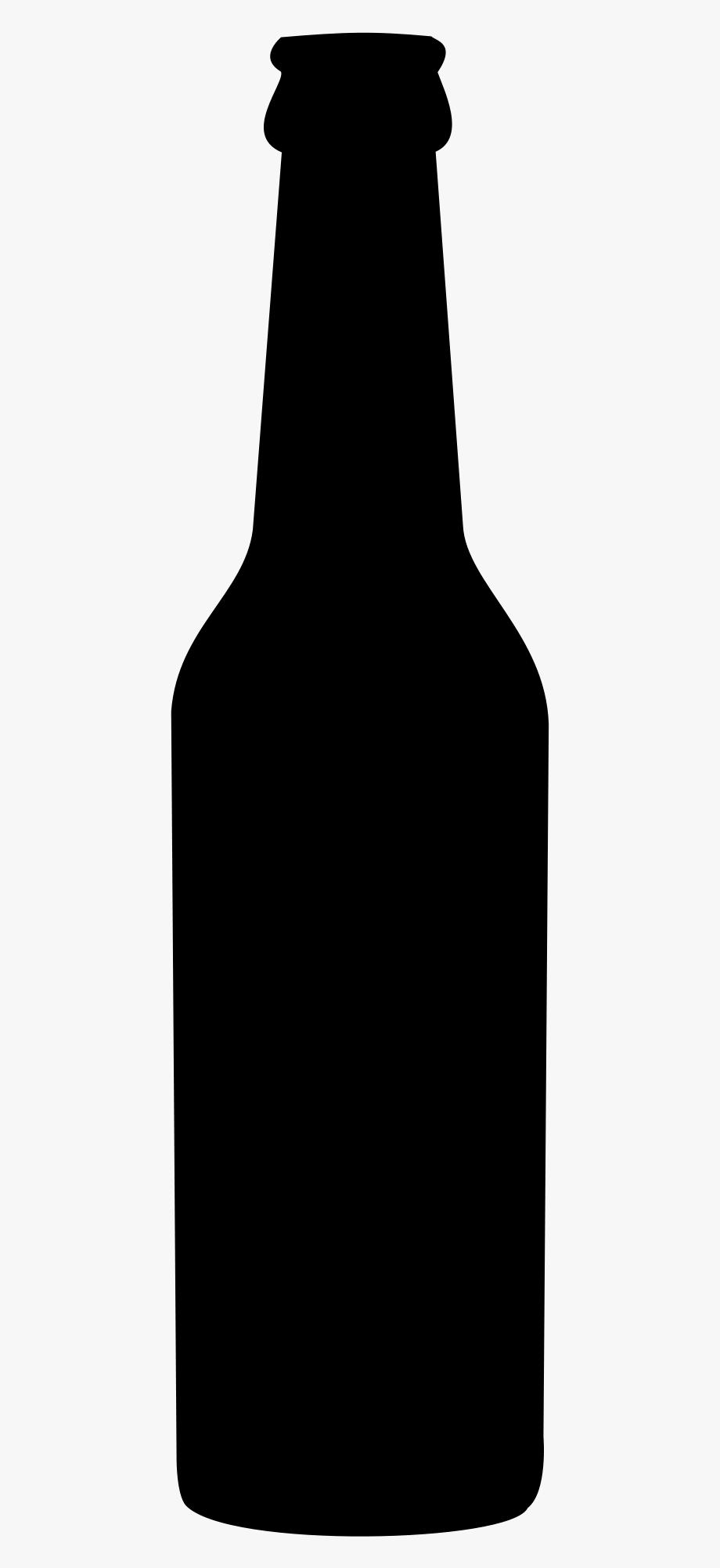 Beer Bottle Black Clipart.