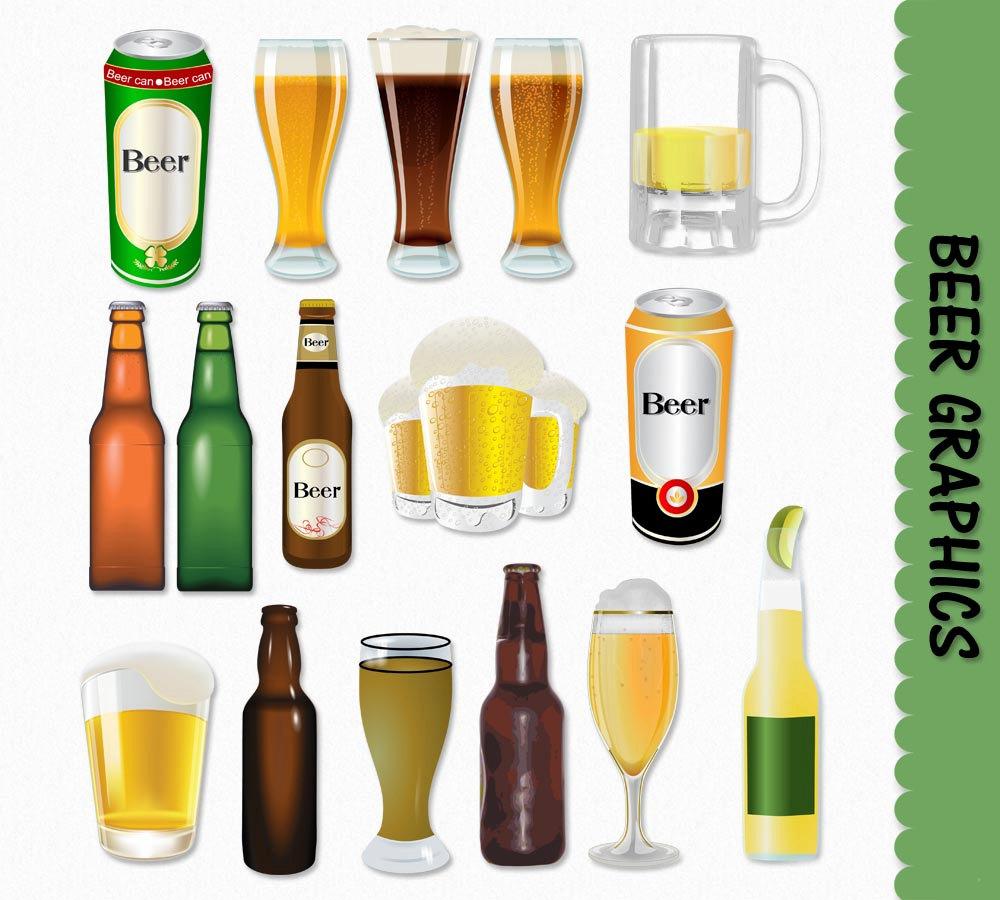 Beer bottle clipart png.