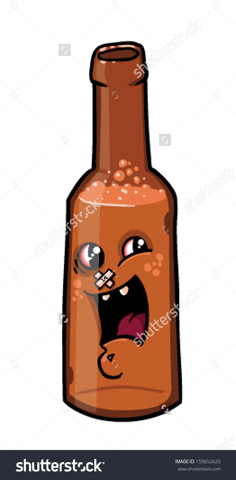 Cartoon Beer Bottle Vector Clip Art Stock Vector 155652620.