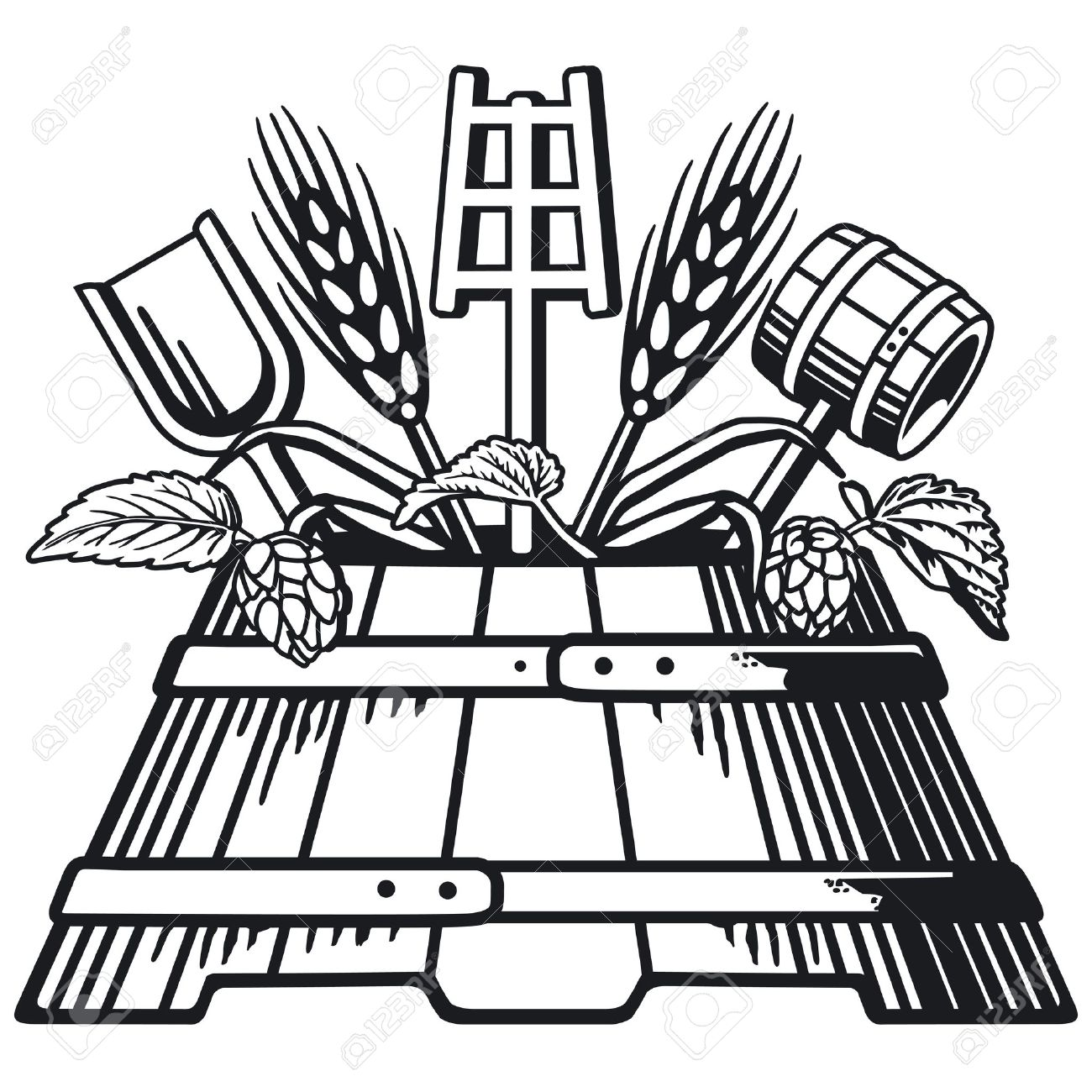 Beer Brewing Clip Art.