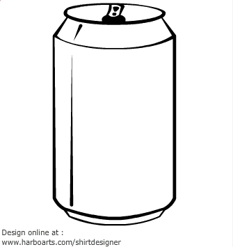 Beer can clipart.