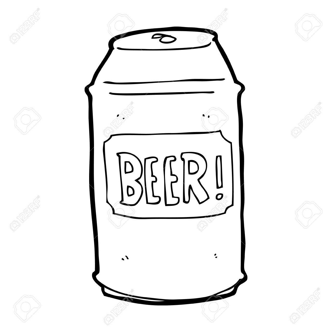 cartoon beer can.