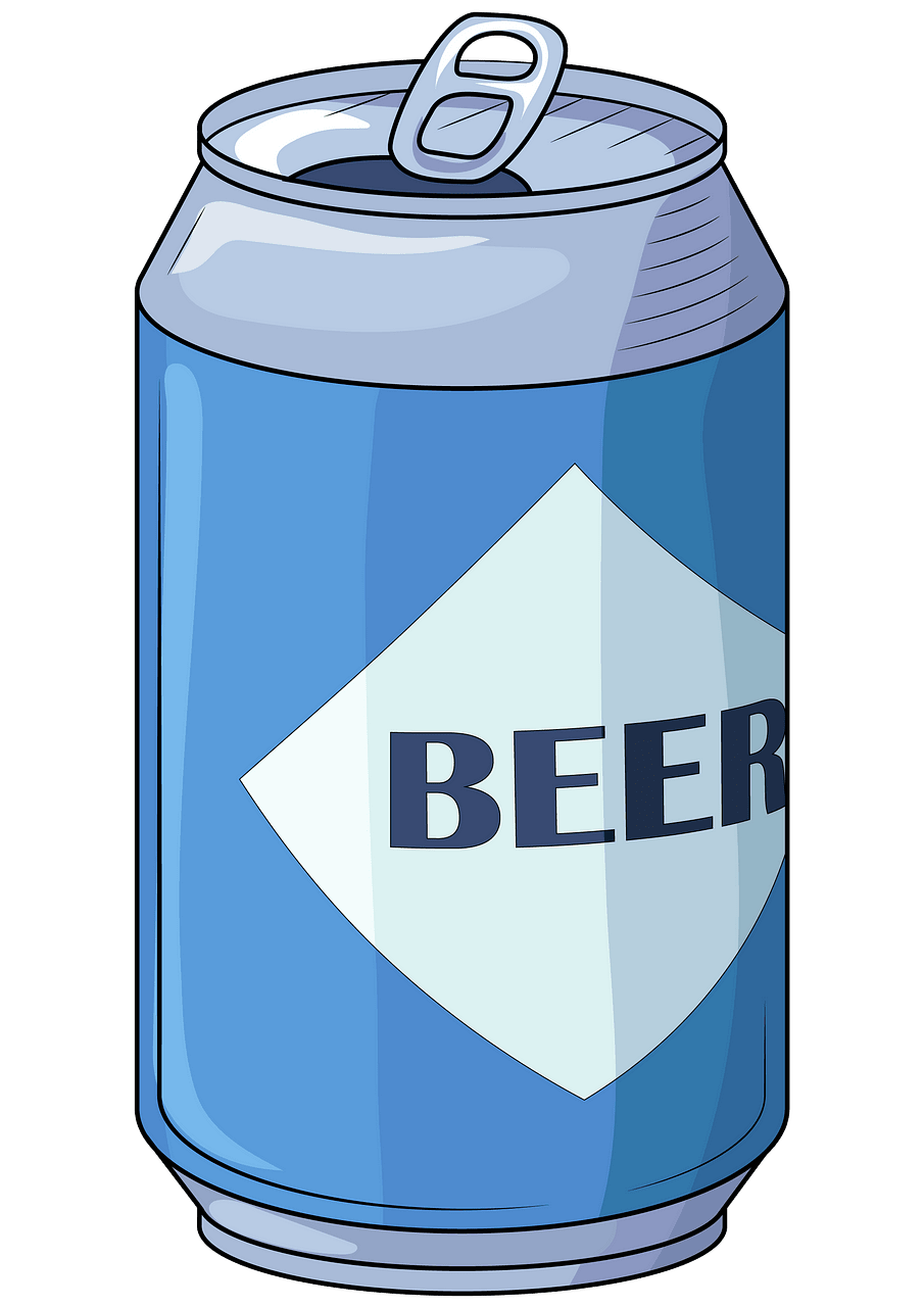 Beer can clipart. Free download..