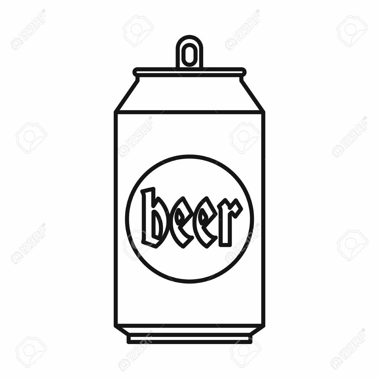 Beer can icon, outline style » Clipart Station.
