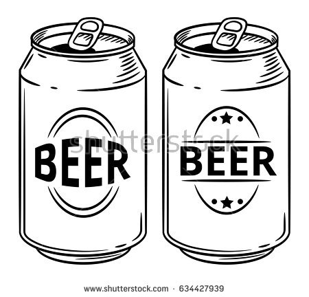 Beer can clipart black and white 5 » Clipart Station.