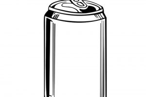 Beer can clipart black and white 4 » Clipart Station.