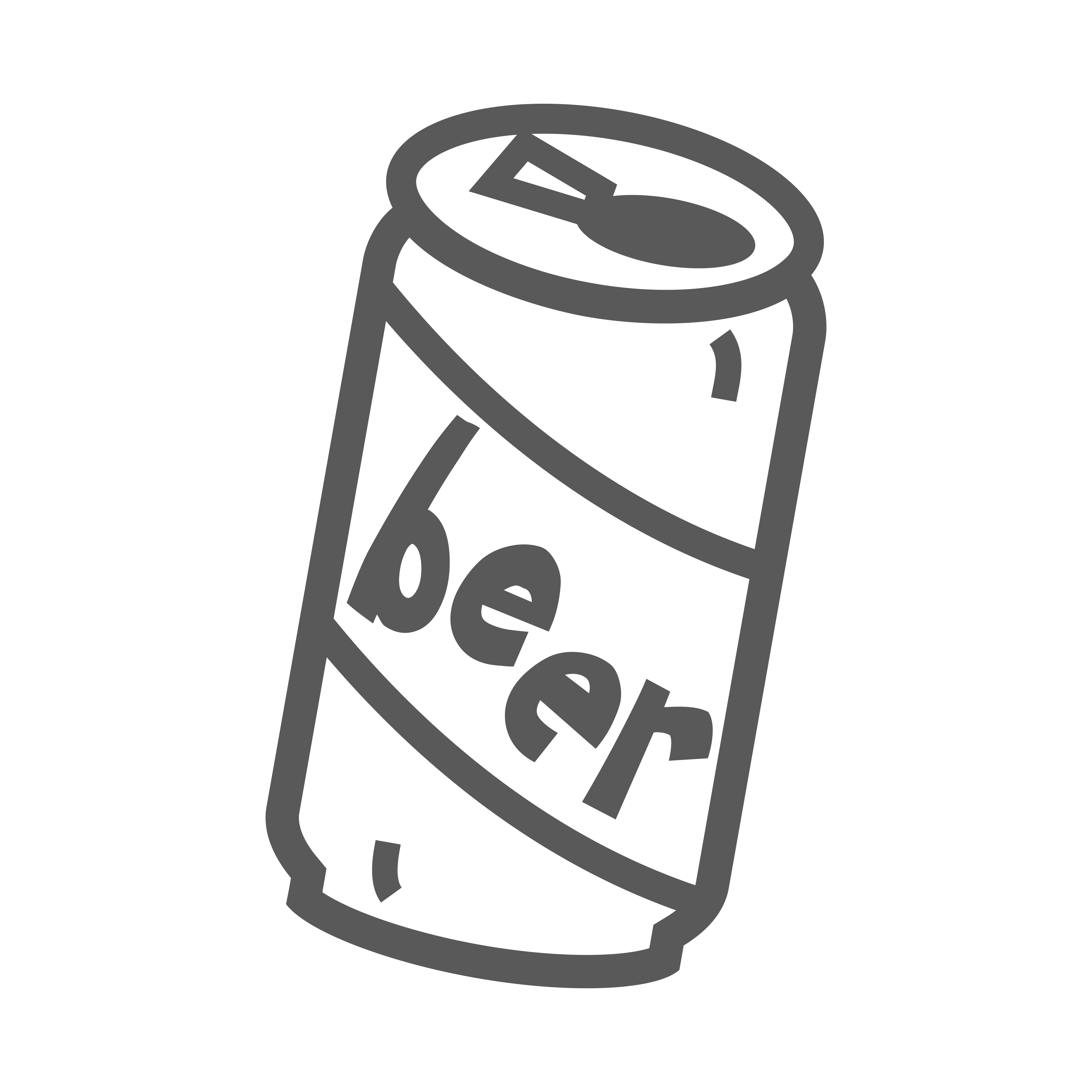 Beer can clipart black and white 1 » Clipart Station.