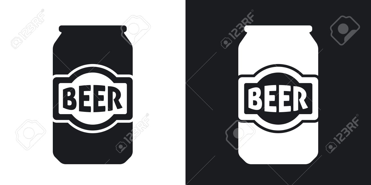 Vector beer can icon. Two.