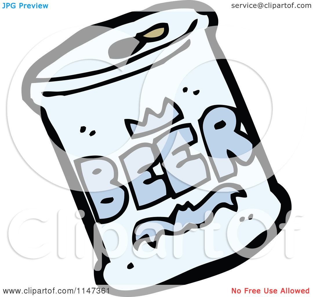 Cartoon of a Beer Can.