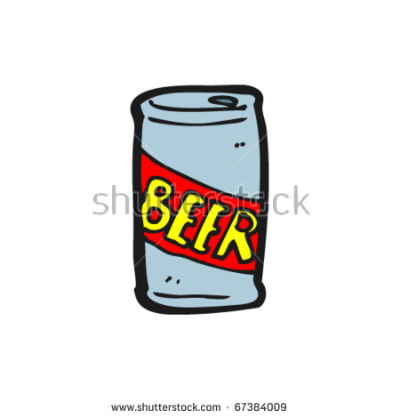 Beer Can Cartoon Illustration Vector Stock Images, Royalty.
