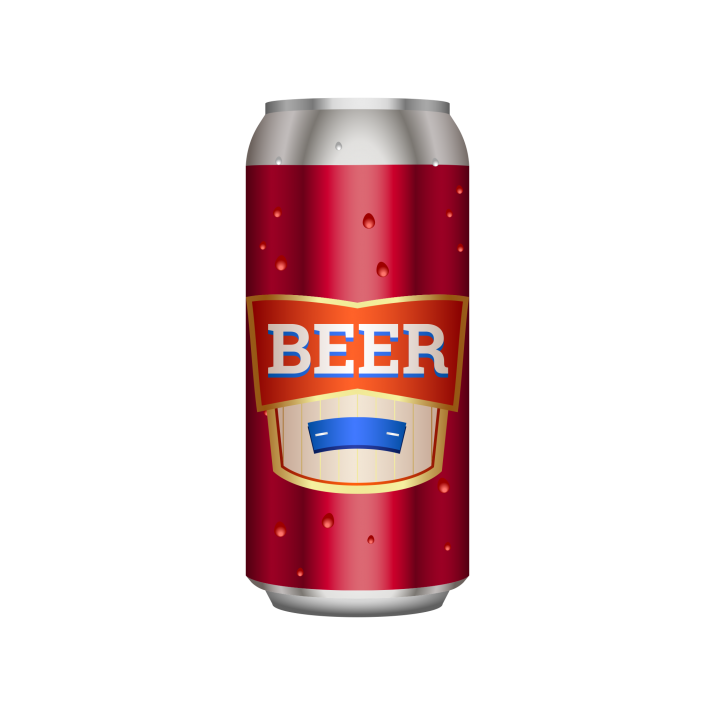 Beer can Transparent PNG.