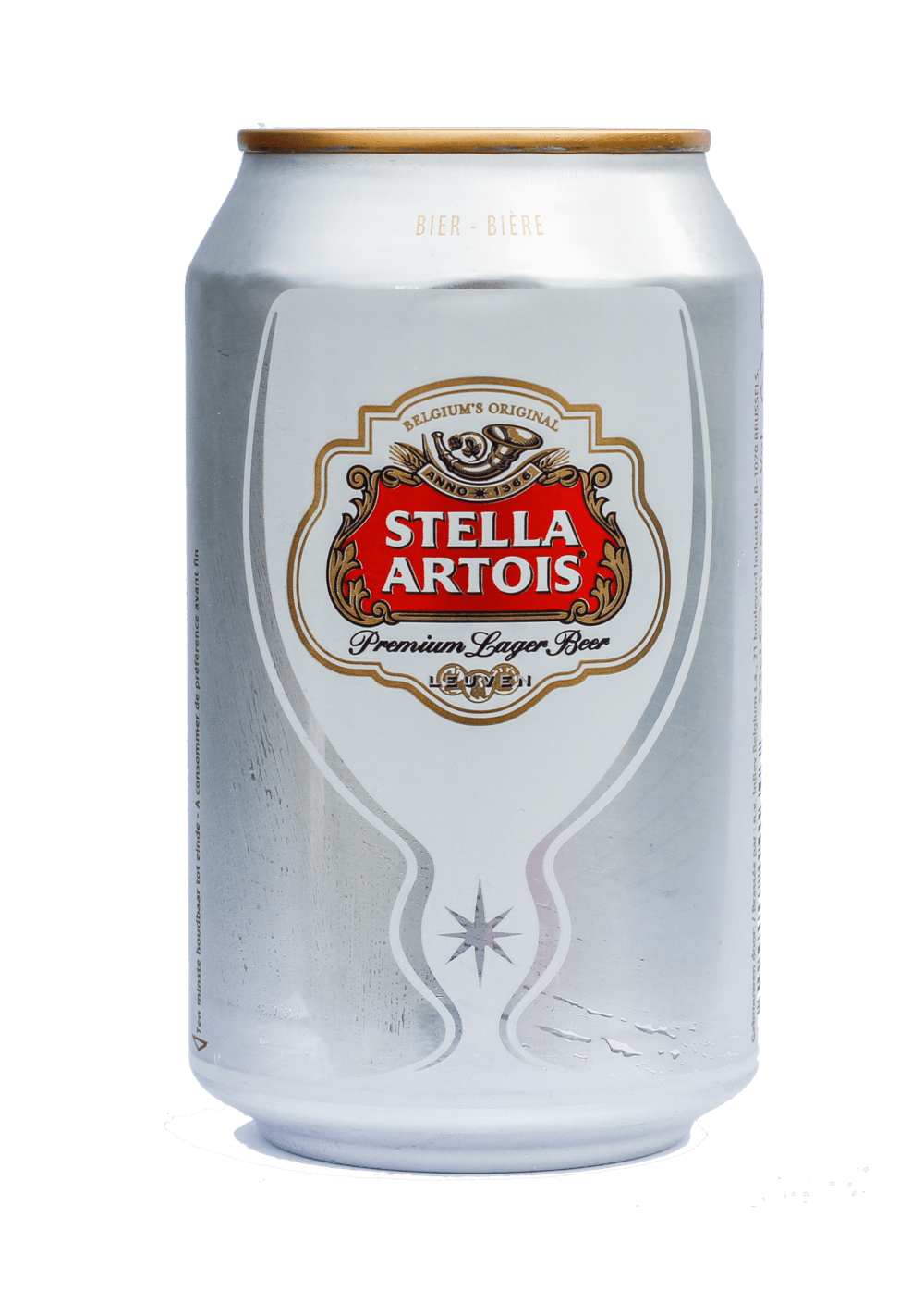 Beer Can Stella Artois transparent PNG.