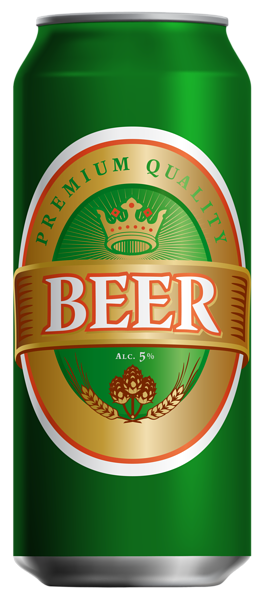Beer Can PNG Clip Art Image.