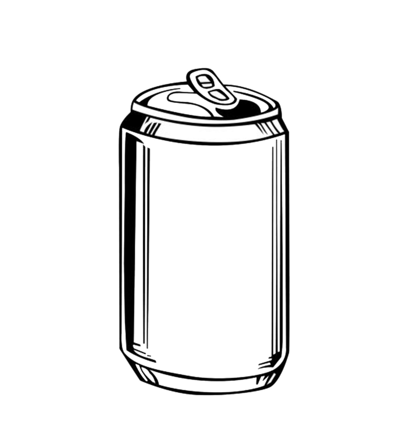 165 Beer Can free clipart.