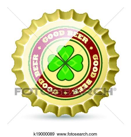 Beer cap Clip Art.