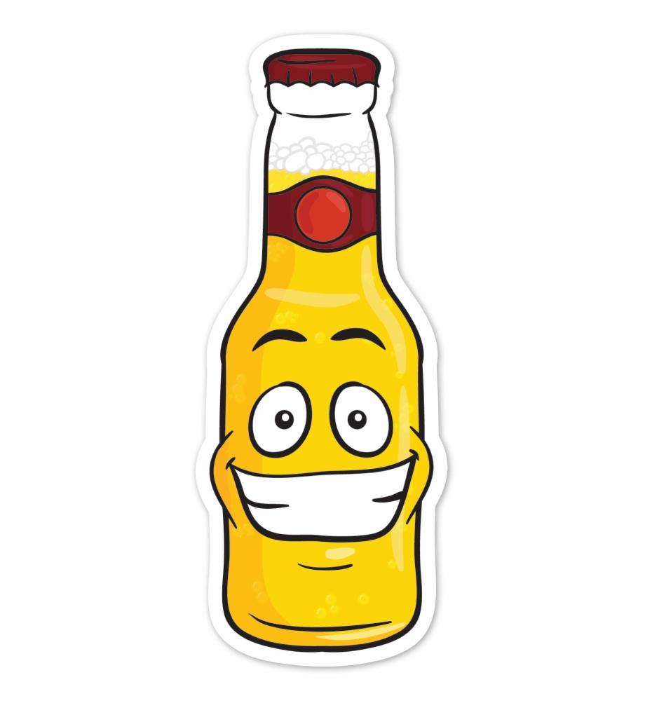 Grinning Beer Bottle Emoji Vector Toons Png Beer Bottle.