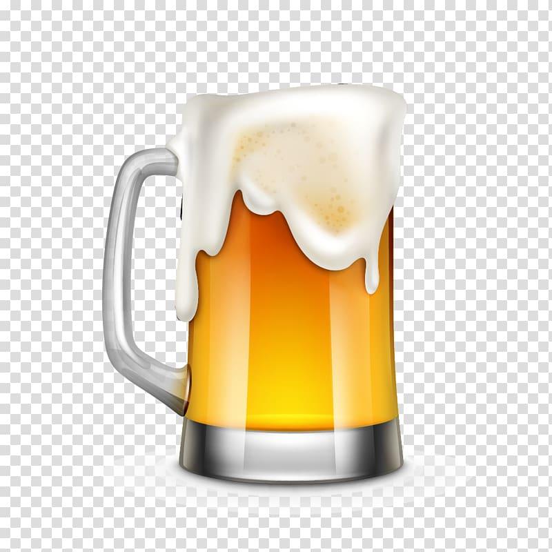 Beer mug , Beer Cartoon Illustration, Cartoon realistic beer.