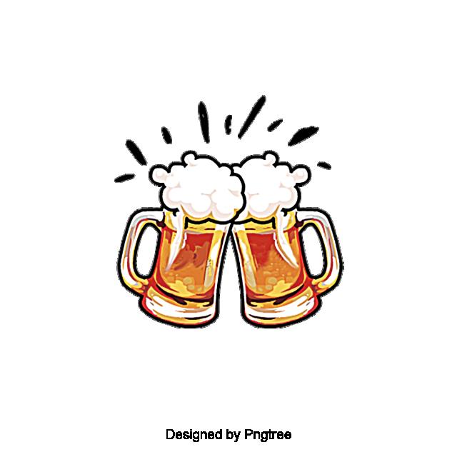 Aesthetic Cartoon Beer Summer Drink, Beautiful, Exquisite, Cartoon.