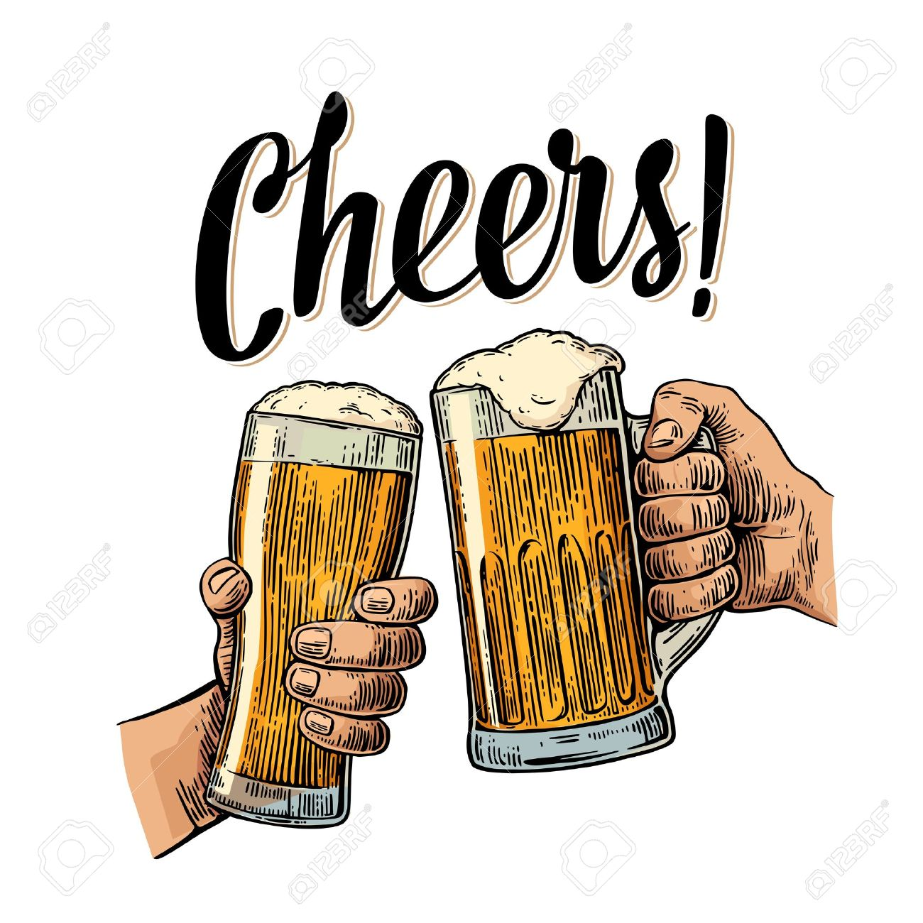 Beer cheers clipart 5 » Clipart Station.