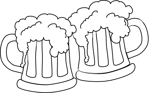 Free Beer Clipart Black And White, Download Free Clip Art.