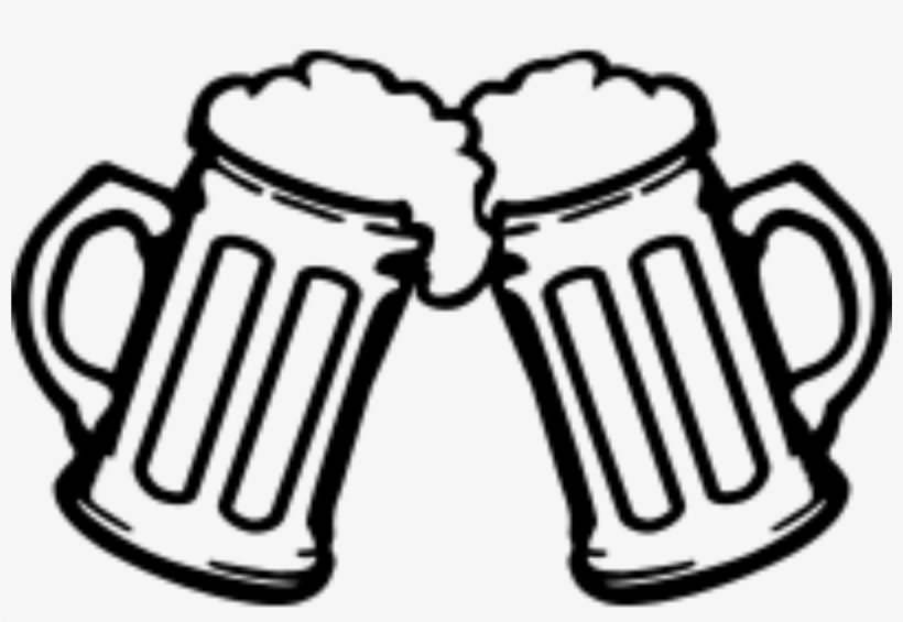 Clip Freeuse Beer Cheers Clipart Black And White.