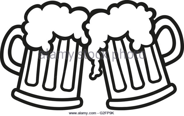 Beer Clipart Black And White.