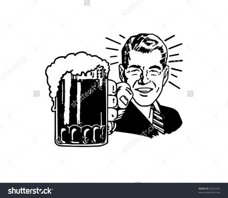 Retro Beer Guy Clip Art Stock Vector 56253535.