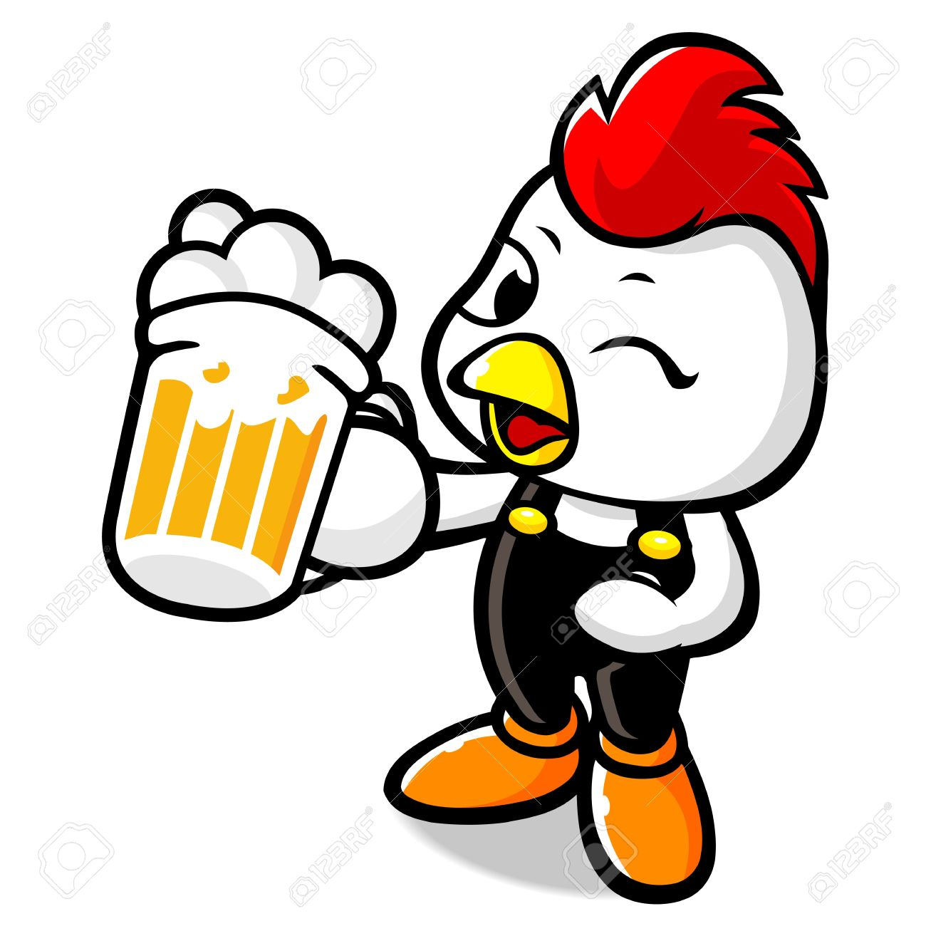 Chicken And Beer Clipart.