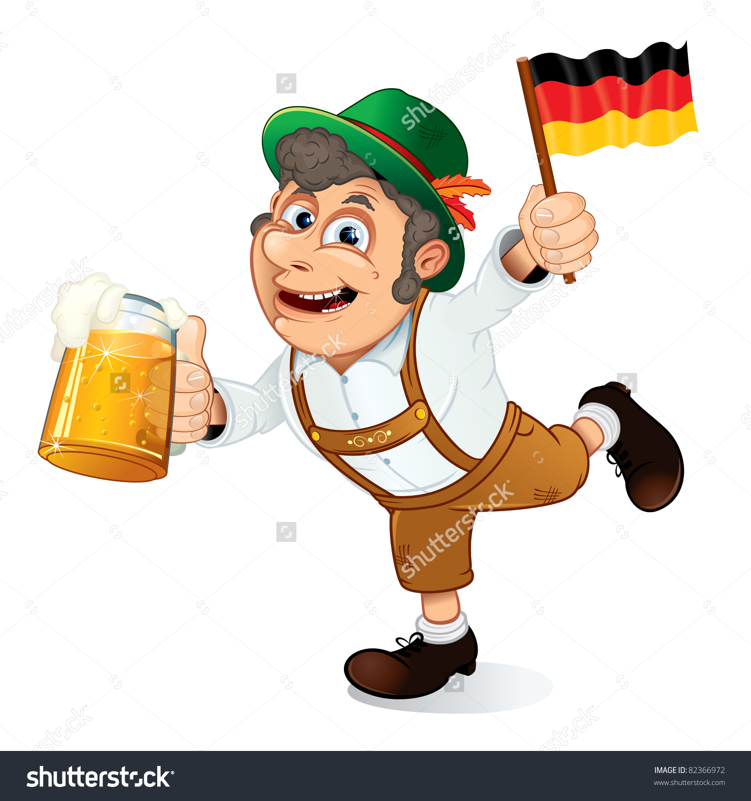 Funny Oktoberfest Man Beer Stein Flag Stock Vector 82366972.