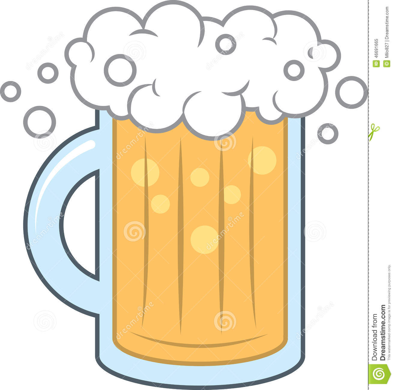 Beer Mug Foam Stock Vector.