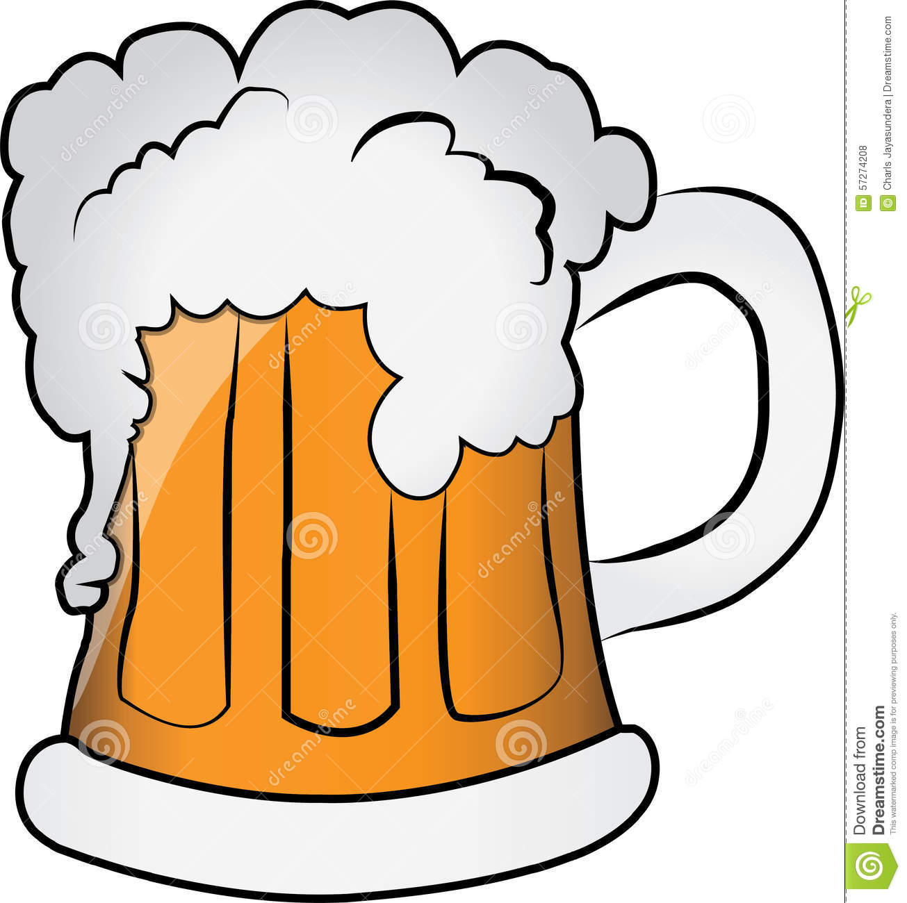 MUG OF BEER Stock Illustration.