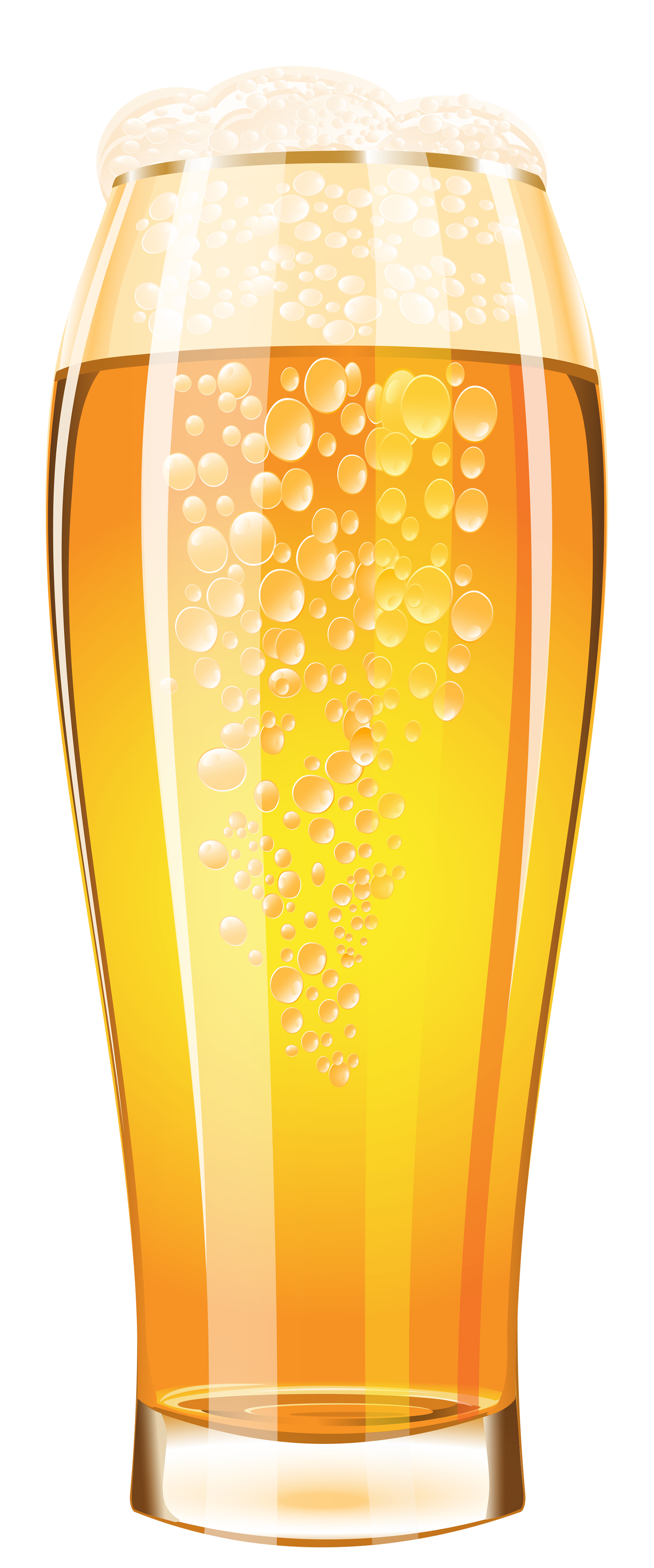 Glass of Beer PNG Vector Clipart Image.