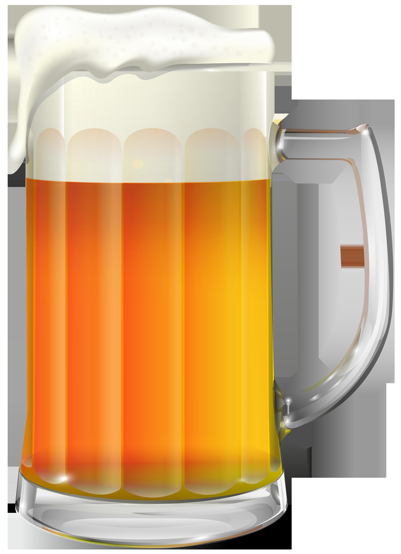 Beer Mug Transparent PNG Clip Art Image.