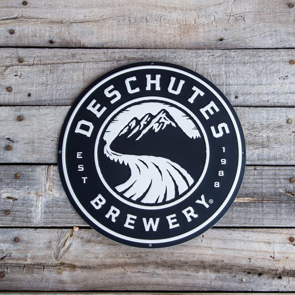 From Beer Town USA comes this round Deschutes Brewery logo.