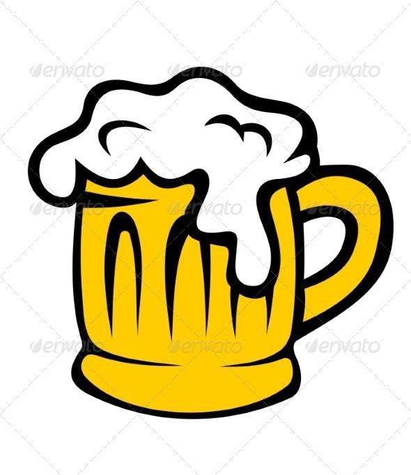 Cartoon Tankard of Frothy Beer.