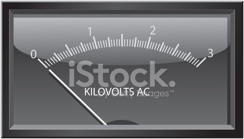 Kilovolts Gauge premium clipart.