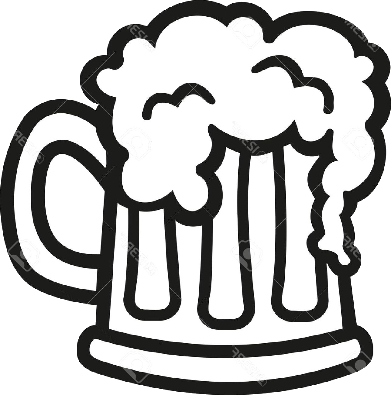 Beer Top Glass Clip Art Black And White Cdr Free Vector Png.