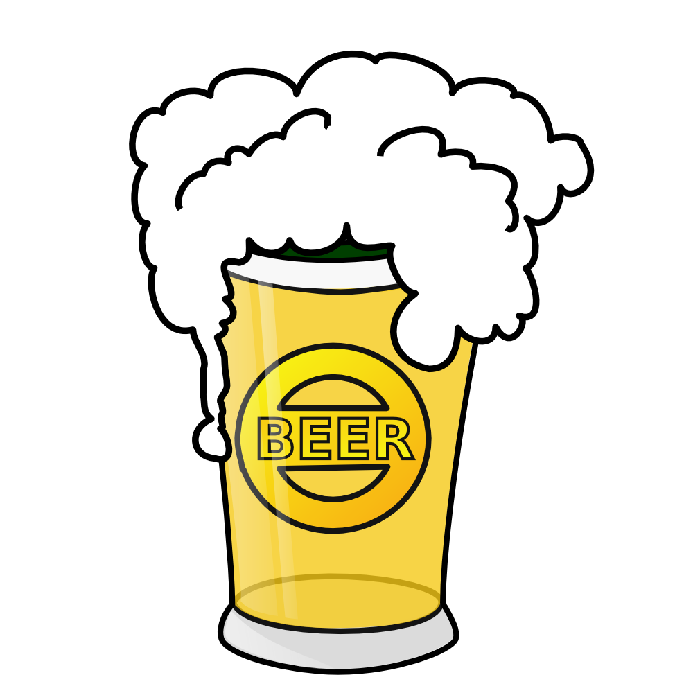 Beer glass clipart.