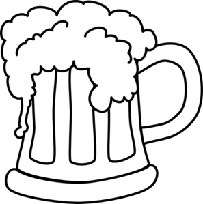 Free Beer Clipart Black And White.