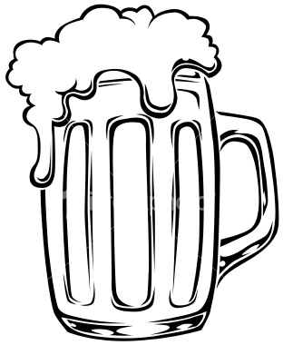 Beer Mug Clipart Black And White.