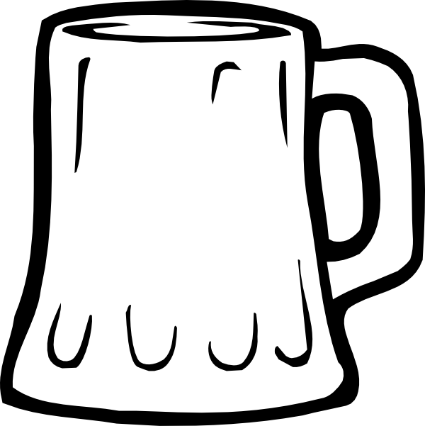 Beer Mug Black And White Clip Art at Clker.com.