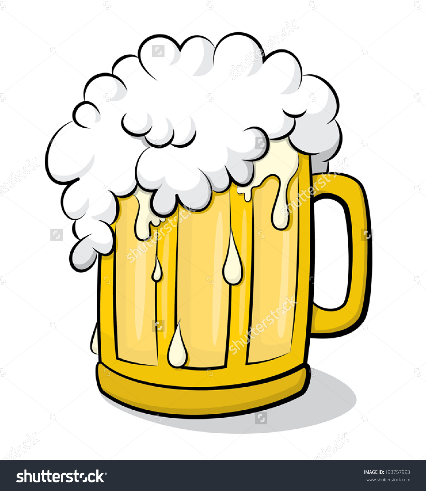 208 Beer Glass free clipart.