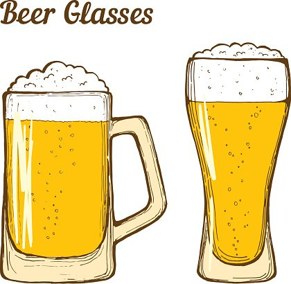 Beer glasses Clipart Image.