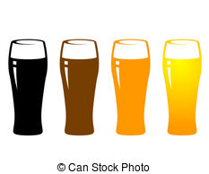 Beer glasses clipart.