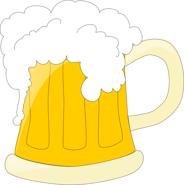 Beer Mug Glasses Clip Art.