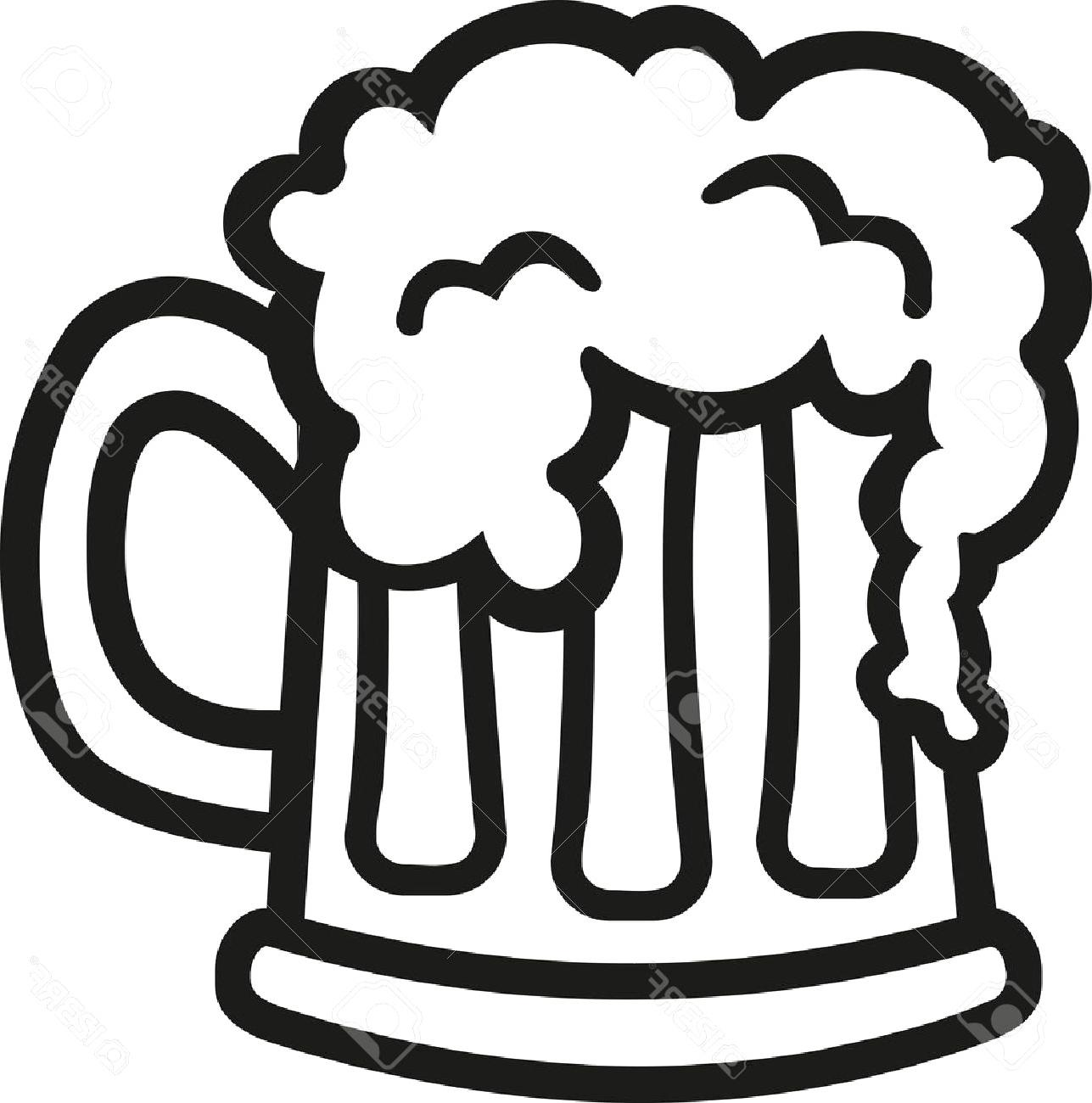 Top Beer Glass Clip Art Black And White Cdr » Free Vector.