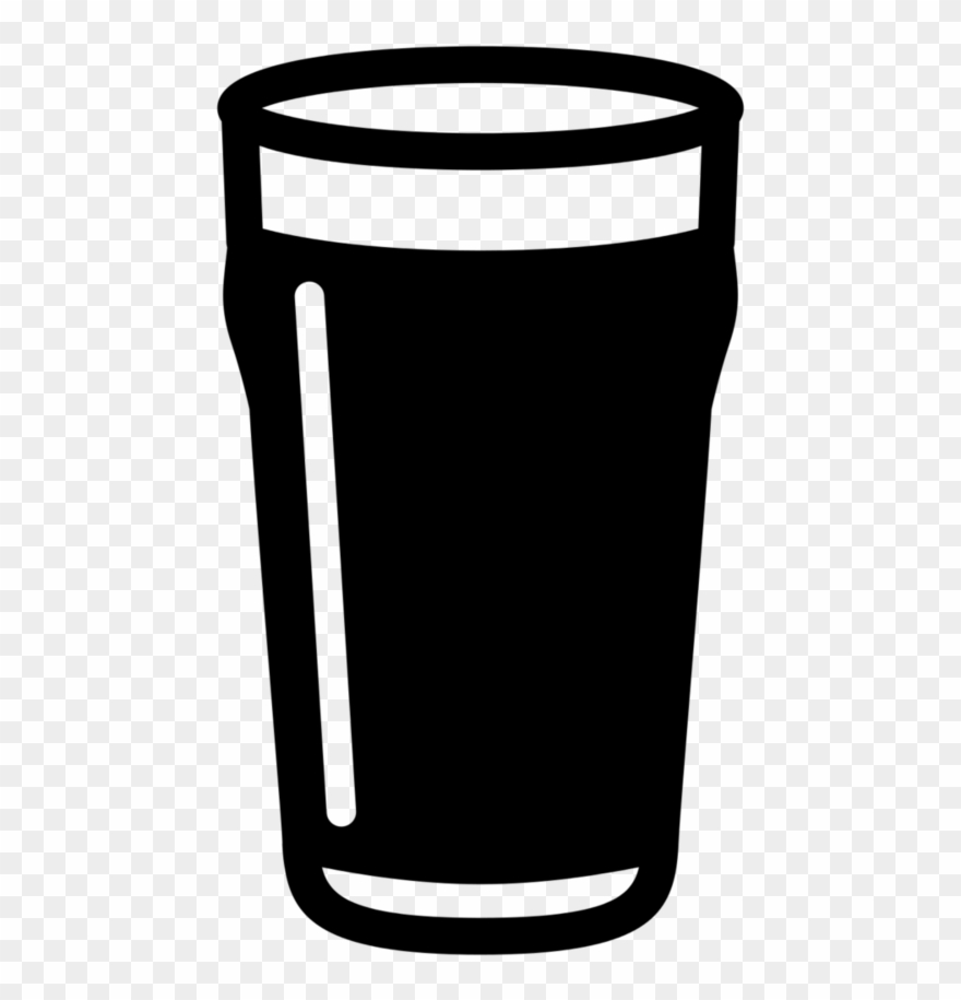 Beer Glass Clipart Black And White.